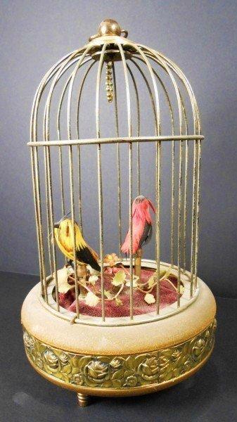 2: Brass Birdcage With Singing Birds