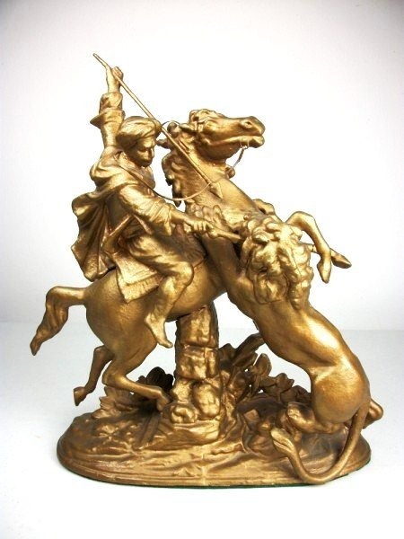 3: Spelter Figure, Slaying Of The Lion