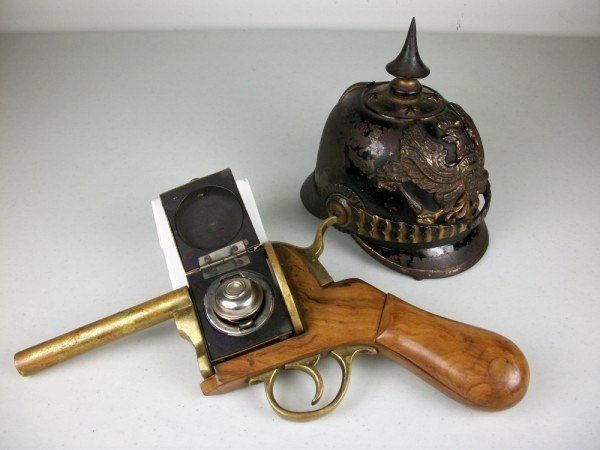 21: Two Antique Figural Inkwells