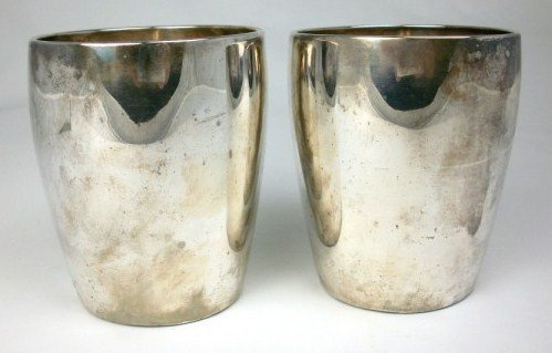 280: Two Sterling Silver Beakers, English, C. 1790
