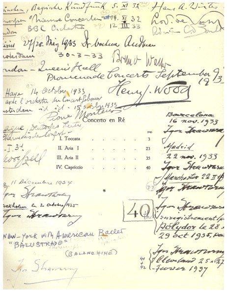195A: Very Rare Igor Stravinsky Music Score