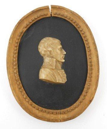 Antique Wax Portrait, Napoleon I