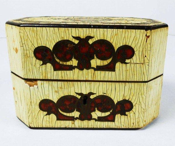 Early 19th Century Ivory-Veneered Locking Box