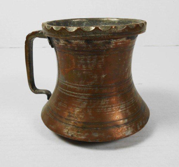 Antique Middle Eastern Copper Mug