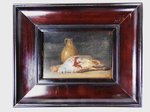Oil Painting, Still Life With Dead Fowl and Jug