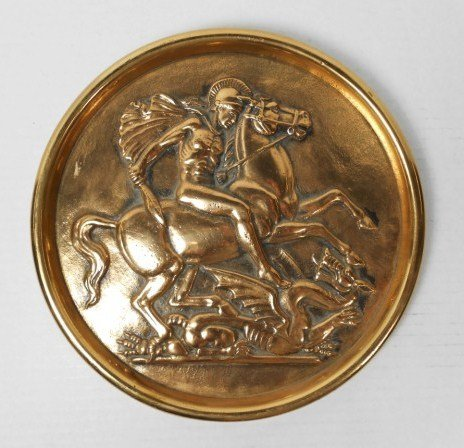 Bronze Plaque, St. George Slaying The Dragon
