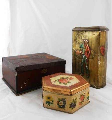 Group Of Three Antique Tins