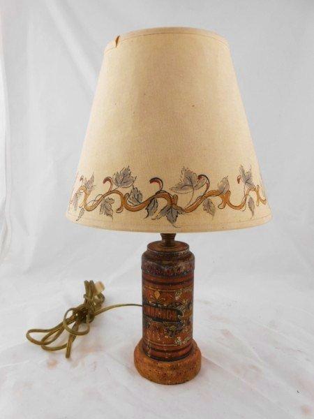 Vintage Cinnamon Tin Mounted As Lamp