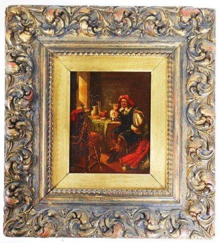 Oil Painting, Flemish School, Circa 19th Century