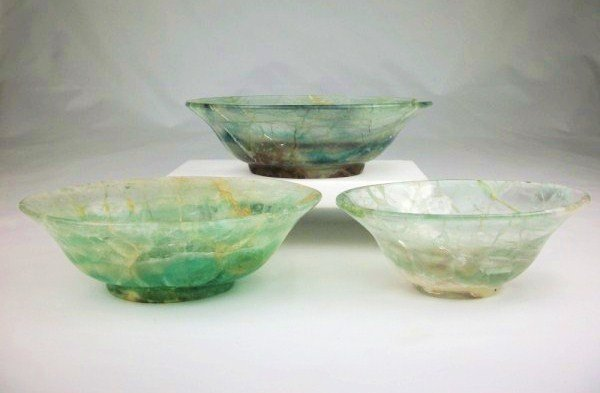 Antique Chinese Flourite Bowls