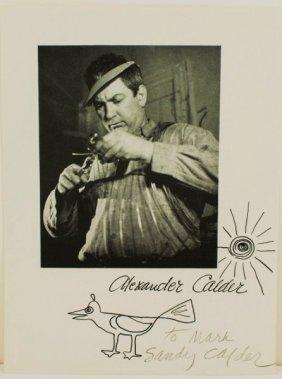 Alexander Calder Ink Sketch