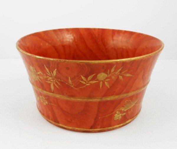 Antique Faux Bois Bowl, Chinese, 18th Century