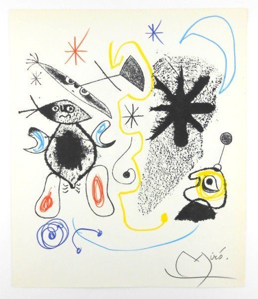 Joan Miro (1893-1983) Lithographic Plate