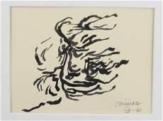 Eduardo Chillida (1924-2002) Ink Drawing
