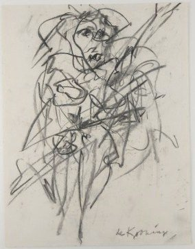 Willem De Kooning (1904-1997) Charcoal Drawing