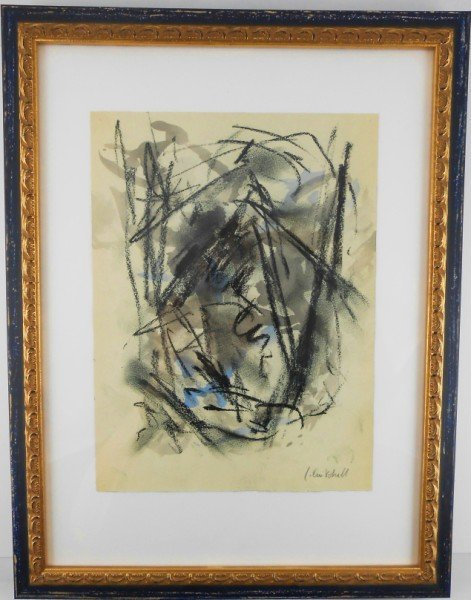Joan Mitchell Watercolor & Chalk Drawing