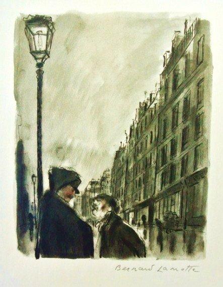 Bernard Lamotte (1903-1983) Signed Lithograph