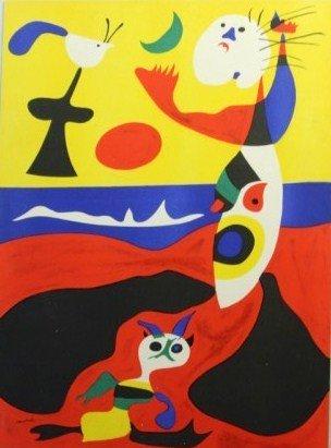 Joan Miro (1893-1983) Original Color Lithograph