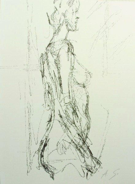 Alberto Giacometti (1901-1966) Signed Lithograph