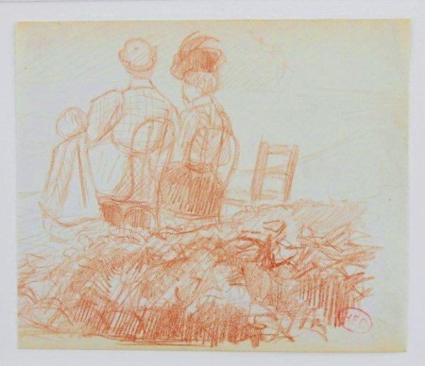 Henri Edmond Cross (1856-1910) Sanguine Sketch