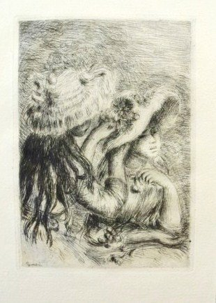 Pierre Renoir (1841-1919) Original Drypoint