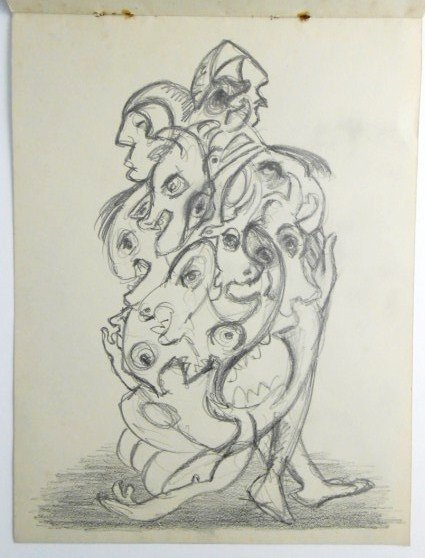 Jackson Pollock (1912-1956) Drawing Sketchbook - 10
