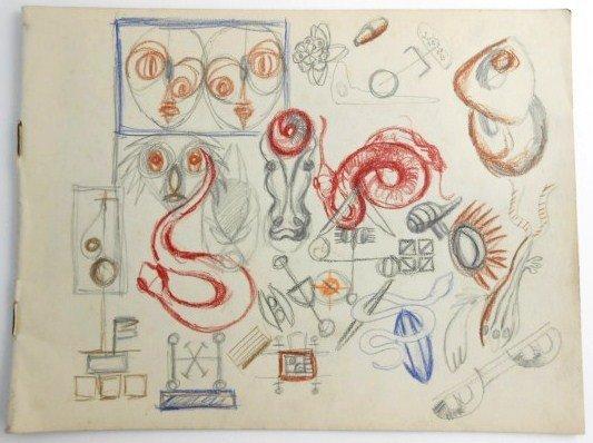 Jackson Pollock (1912-1956) Drawing Sketchbook