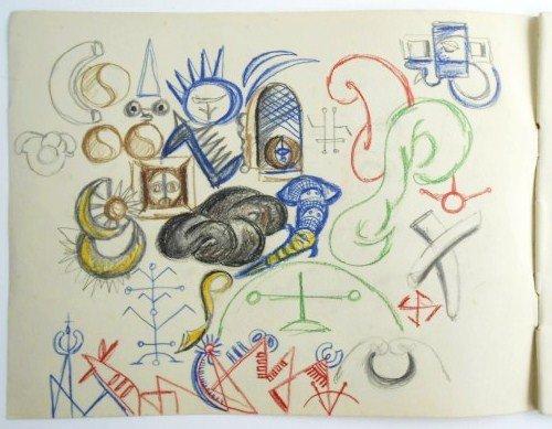 Jackson Pollock (1912-1956) Drawing Sketchbook - 2