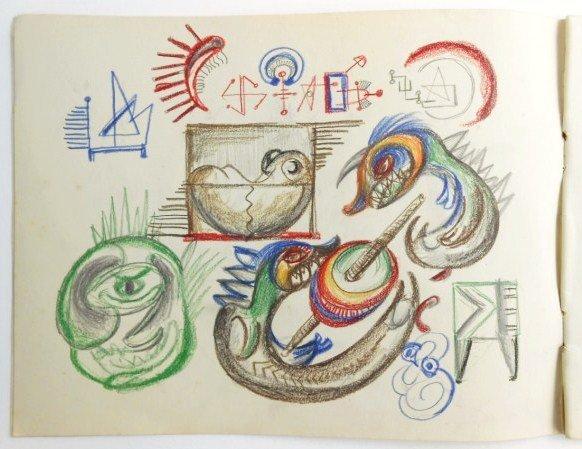 Jackson Pollock (1912-1956) Drawing Sketchbook - 3