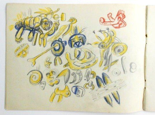 Jackson Pollock (1912-1956) Drawing Sketchbook - 4