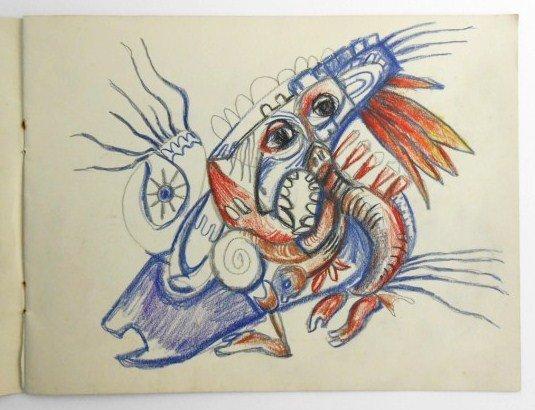 Jackson Pollock (1912-1956) Drawing Sketchbook - 5