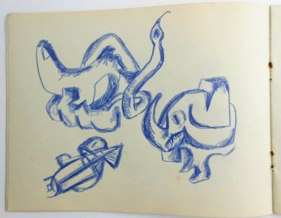 Jackson Pollock (1912-1956) Drawing Sketchbook - 6