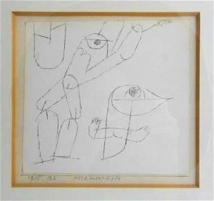 Paul Klee (1879-1940) Original Drawing