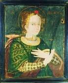 Oil On Canvas, St. Agnes, Circa 16th Century
