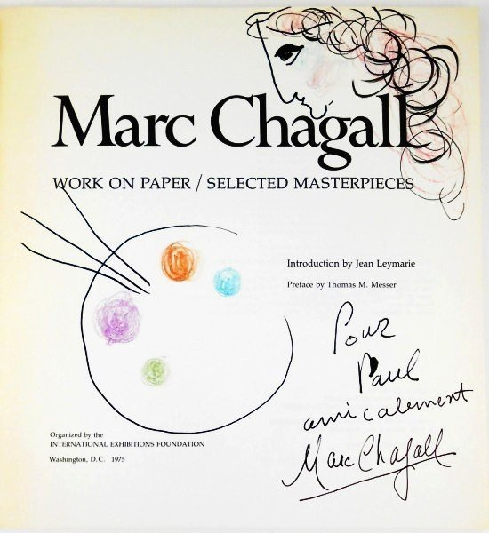 Marc Chagall (1887-1985) Chalk Sketch