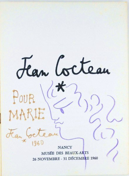 Jean Cocteau (1889-1963) Original Catalog Drawing