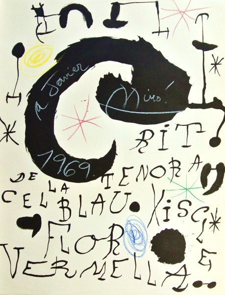 Joan Miro (1893-1983) Signed Lithograph
