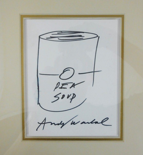 Andy Warhol (1928-1987) Soup Can Drawing