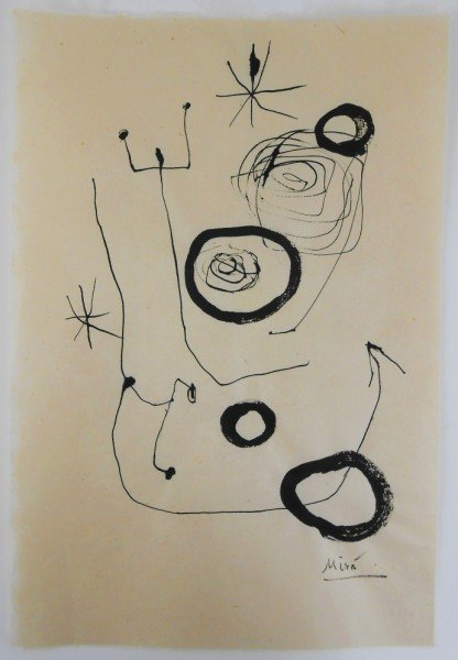Joan Miro (1893-1983) India Ink Drawing