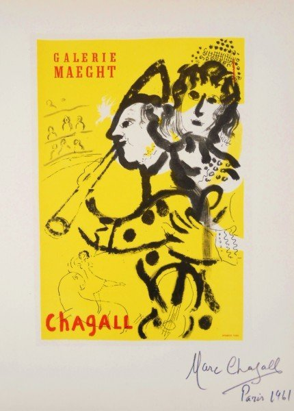 Marc Chagall (1887-1985) Signed Lithograph