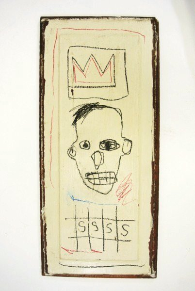 Jean-Michel Basquiat (1960-1988) Drawing On Panel