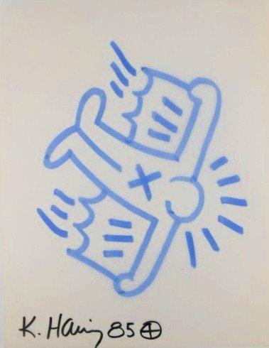 Keith Haring (1958-1990) Marker Pen Drawing