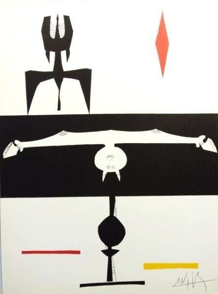 Wilfredo Lam (1902-1982) Signed Lithograph, 1953