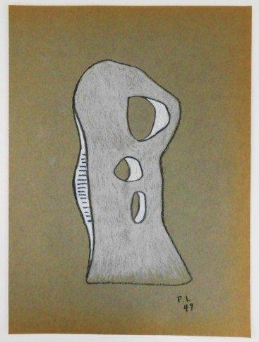 Fernand Leger (1881-1955) Chalk Drawing