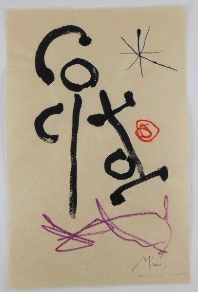 Joan Miro (1893-1983) Mixed Media Drawing