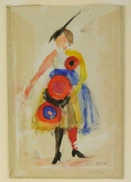 Sonia Delaunay (1885-1979) Watercolor