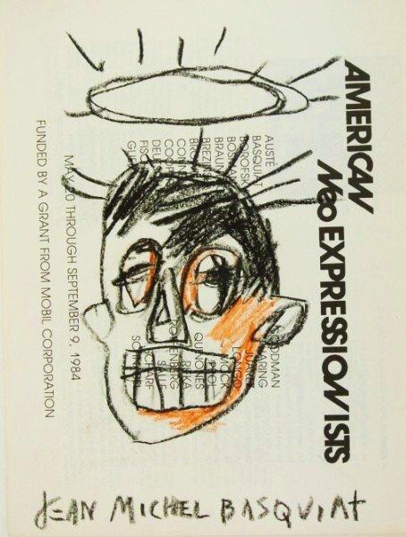 Jean-Michel Basquiat Rare Souvenir Sketch