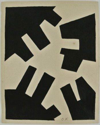 Otto Freundlich (1878-1943) Ink Drawing