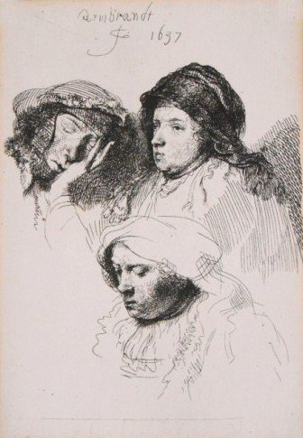 Rembrandt (1606-1669) Etching