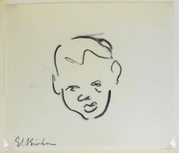 Ernst Ludwig Kirchner (1880-1938) Charcoal Sketch